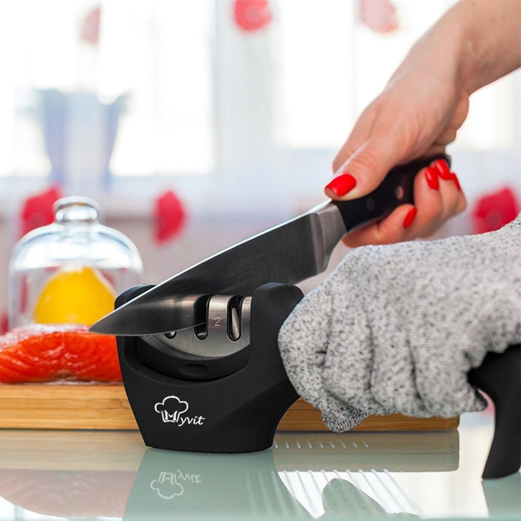 Non Skid Knife Sharpener with Handle
