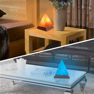 Pyramid Himalayan Salt Lamp Crystal Rock Air Purifier
