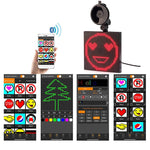 Full Color Bluetooth Emoticon LED Car Sign Display
