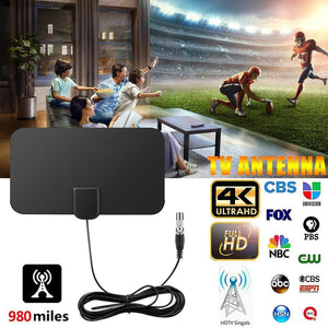 Digital HD Indoor TV Antenna - 980 Miles