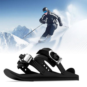 Portable Mini Ski Skates Skiing Shoes - Winter Outdoor Ski Accessories