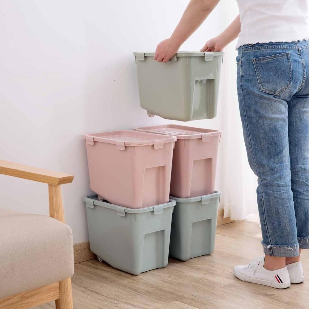 Stackable Storage Bin with Wheels