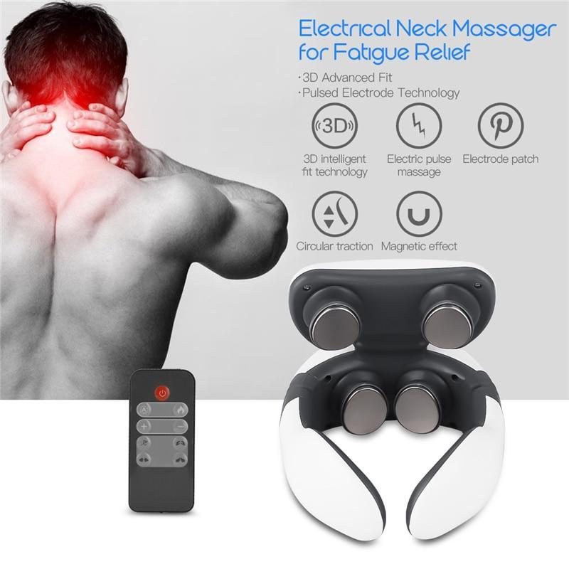 4D Neck Massager with Magnetic Pulse Vibration