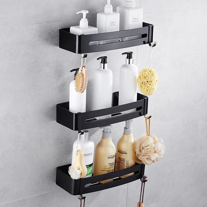 Multifunction Wall Mounted Bathroom Rack