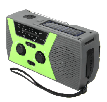 Solar Hand Crank Radio with Flashlight and Powerbank