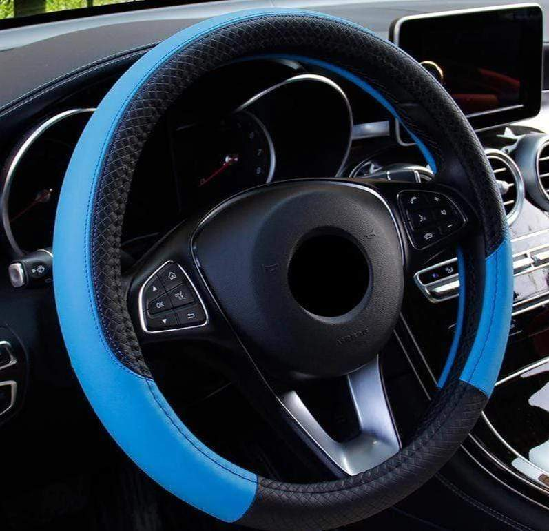 Premium Leather Steering Wheel Cover