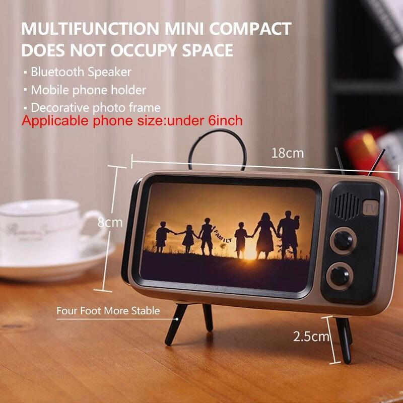 Retro TV Bluetooth Speaker and Smartphone Dock