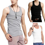 Summer Men's Sleeveless Stringer Tank Top  Male Cusual Slim Fit Sports Vests Shirts XL-3XL 3 Colors