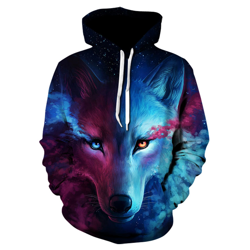 Wolf Printed Hoodie Men 3d Hoodies Brand Sweatshirts Boy Jackets Quality Pullover Fashion Tracksuits Animal Streetwear Out Coat