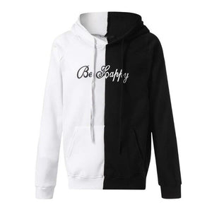 Women Men Pockets Casual Hooded Popular Polyester Coats Printing Loose Version Long-Sleeves Large Size Sportswear