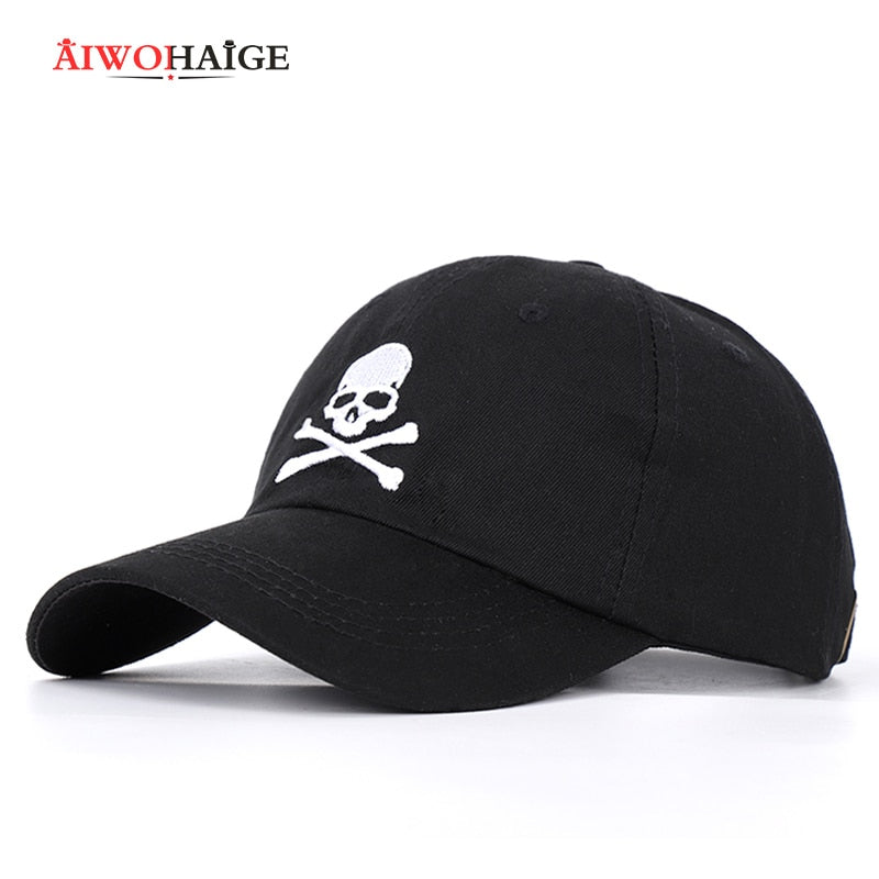 2019 New Fashion Skull Embroidery Baseball Cap Danger Sign hip hop hat Spring Man Woman Cotton Sports Black Bone ASTROWOR Unisex