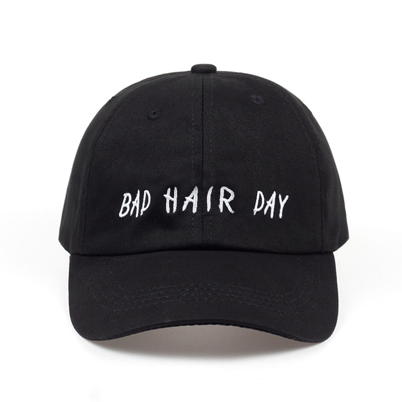 """BAD HAIR DAY"" Black Snapback"