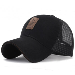 Newest Summer Casual Cotton Breathable Unisex Black Adjustable Long Brim Outdoor Sport Sunscreen Baseball Hat Men Hats and Caps