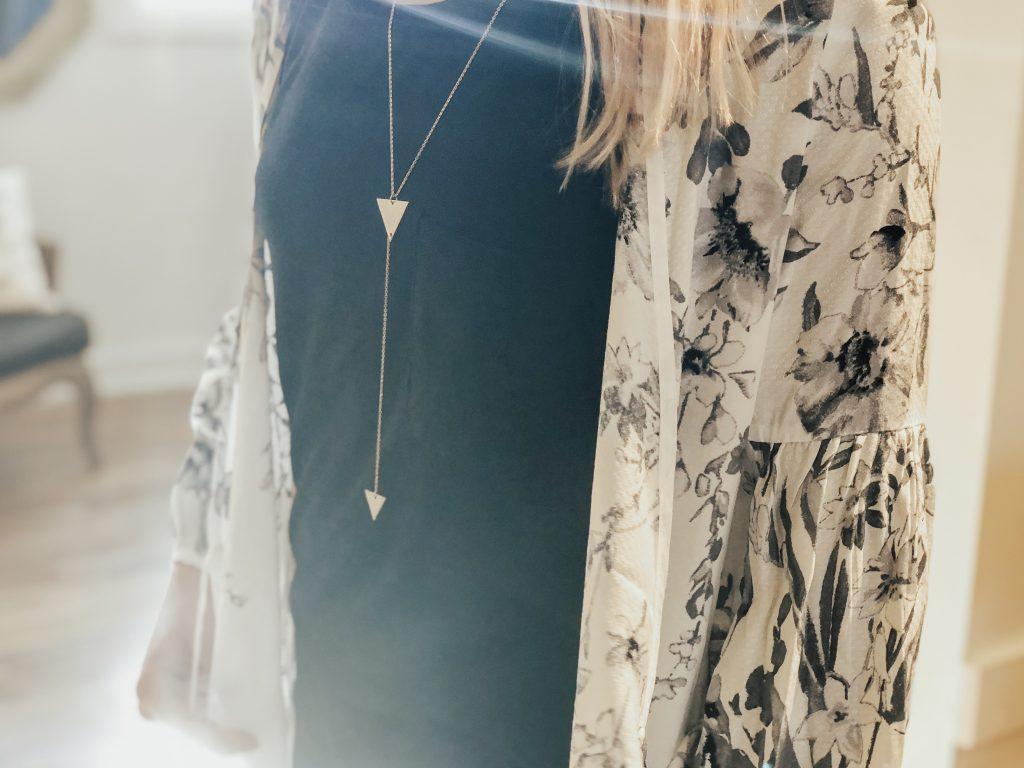 Townsend Collective triangle necklace