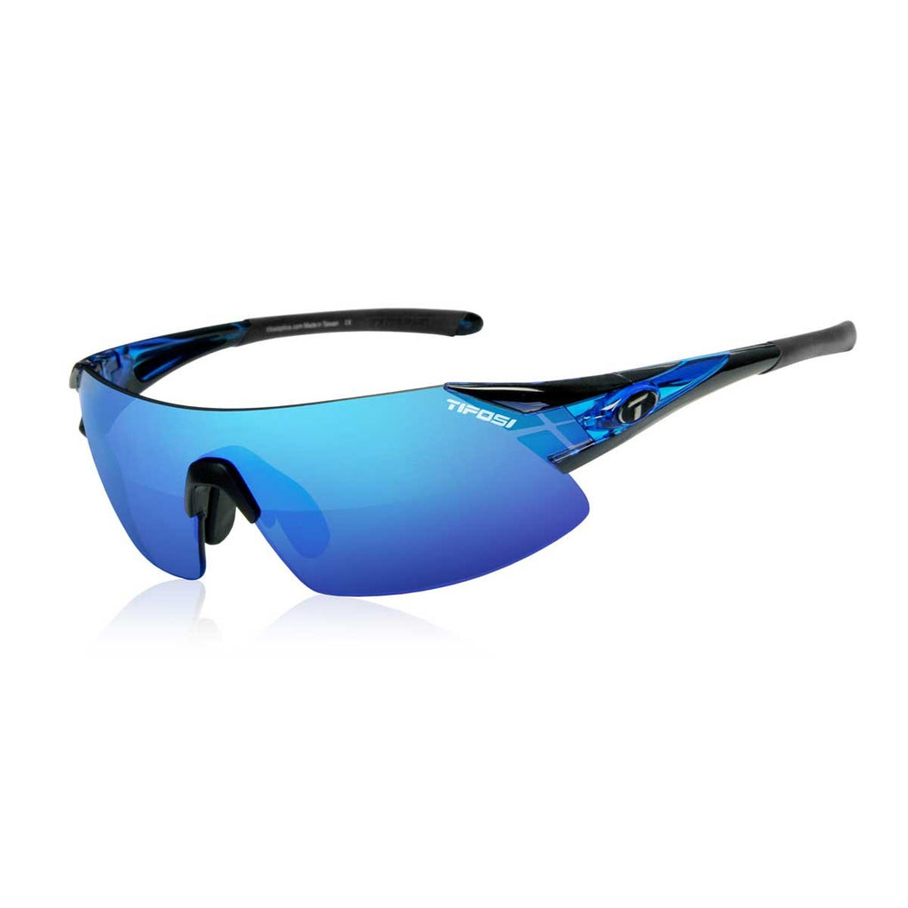 TIFOSI PODIUM XC CRYSTAL BLUE CLARION BLUE LENS SUNGLASSES - ORBIT Cycling