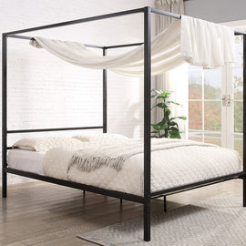 CHALFONT 4 POSTER BLACK METAL SMALL DOUBLE BED