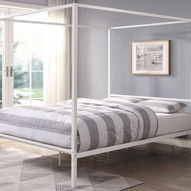 CHALFONT 4 POSTER WHITE METAL SMALL DOUBLE BED