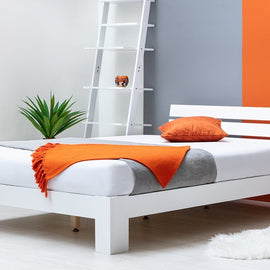 BROXTON WHITE WOODEN DOUBLE BED