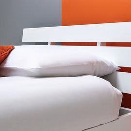 BROXTON WHITE WOODEN SINGLE BED