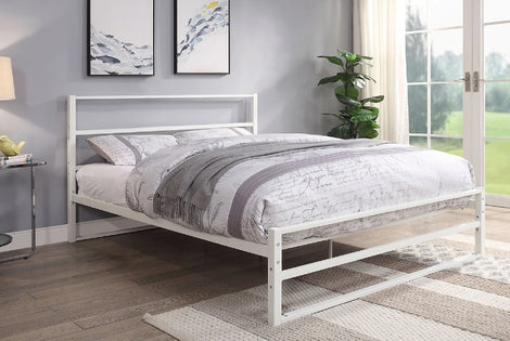 HARTFIELD WHITE METAL SMALL DOUBLE BED