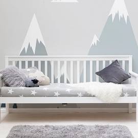 BLYTHE WHITE WOODEN SINGLE DAY BED FRAME