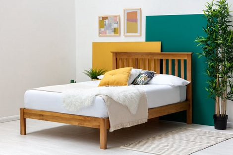 Alderley Solid Oak Farmhouse Wooden Double Bed Frame
