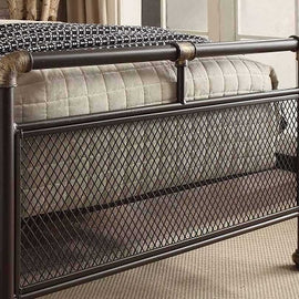 Cambridge Industrial Scaffold Rustic Brown Metal King Size Bed Frame