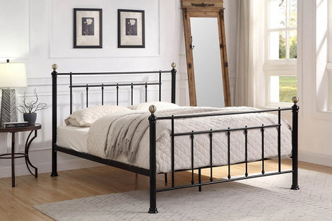 Harpenden Black Metal Double Bed Frame