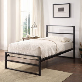 Hartfield Black Metal Single Bed Frame