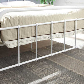 Henley Victorian Hospital Style White Metal Double Bed Frame