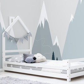 Juni White Kids Wooden Single Bed Frame 3ft