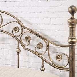 Salcombe Antique Style Brushed Brass Metal King Size Bed Frame