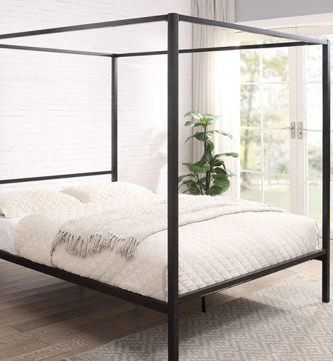 CHALFONT 4 POSTER BLACK METAL DOUBLE BED