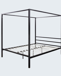 CHALFONT 4 POSTER BLACK METAL KING BED