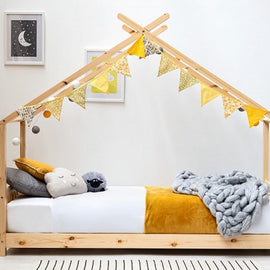 Canopy Kids Wooden House Single Bed Frame
