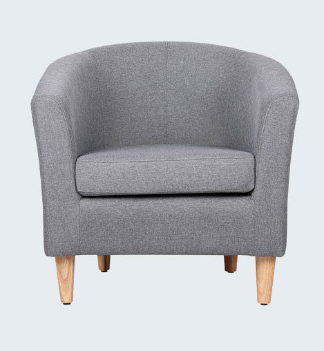 ENDON CHARCOAL GREY FABRIC TUB CHAIR