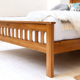 Chelford Solid Farmhouse Oak Wooden Double Bed Frame