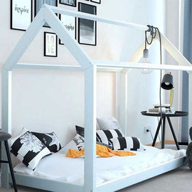 TREEHOUSE WOODEN BED WHITE