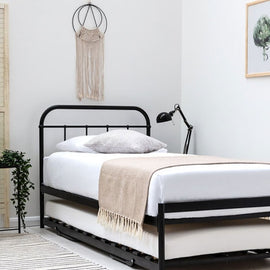 BOURTON BLACK METAL SINGLE BED