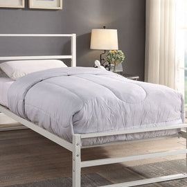 HARTFIELD WHITE METAL SINGLE BED