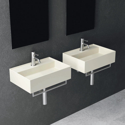STUDIO BAGNO-Studio Bagno Shard 600mm Basin - Basin, Bathroom, Brand_Studio Bagno, Colour_ Matte Black, Colour_Gloss White, Colour_Matte Anthracite, Colour_Matte Ash, Colour_Matte Cocoa, Colour_Matte Nature Green, Colour_Matte Royal Blue, Colour_Matte Taupe, Colour_Matte White, Colour_Perle, Material_Ceramic, Product Type_Above Counter Basin, Product Type_Wall Hung Basin, Shape & Design_Rectangle-Ideal Bathroom Centre