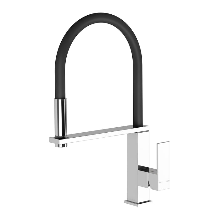 Phoenix Vezz Flexible Hose Sink Mixer Square - Idealbathroomcentre