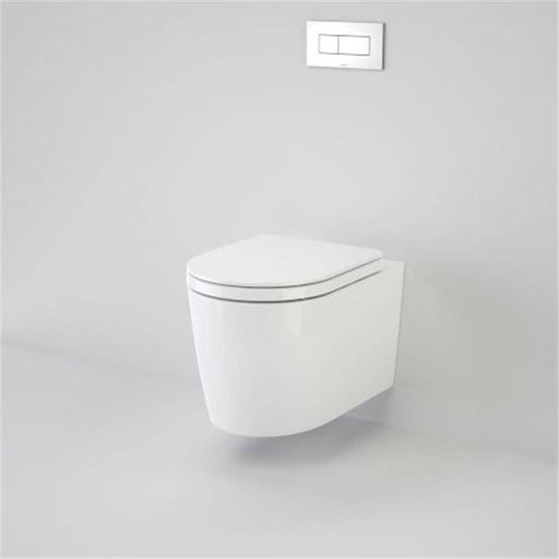 CAROMA-Caroma Liano Cleanflush Wall Hung Invisi Series II Toilet Suite - Brand_Caroma, Colour_Gloss White, Flushing Technology_Rimless Flushing, Pan Trap Type_P Trap, Toilet Type_Concealed Wall Face Toilet-Ideal Bathroom Centre