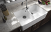 Turner Husting Chester 80 x 50 Double Flat Front Fine Fireclay Butler Sink - Idealbathroomcentre