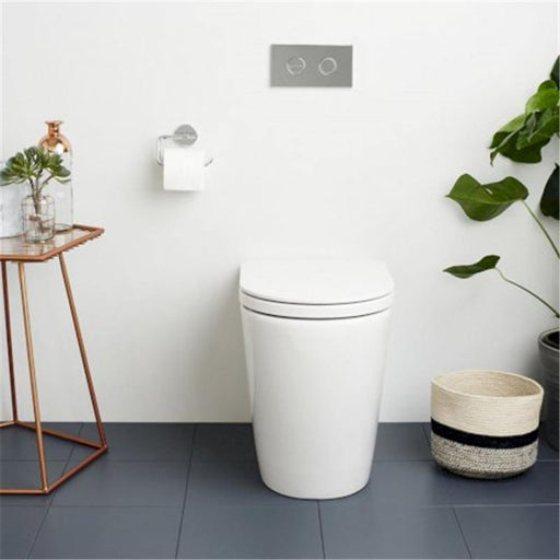 CAROMA-Caroma Liano Cleanflush Wall Faced Invisi Series II Toilet Suite - Brand_Caroma, Colour_Gloss White, Flushing Technology_Rimless Flushing, Pan Trap Type_S & P Trap, Toilet Type_Ambulant & Care Toilet, Toilet Type_Concealed Wall Face Toilet-Ideal Bathroom Centre