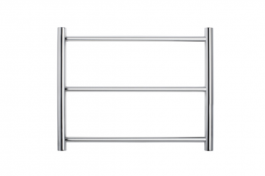 Forme Retro Fit 3 Bar Round Heated Towel Rail 550X450X120mm HTR-TR0304LP - Idealbathroomcentre