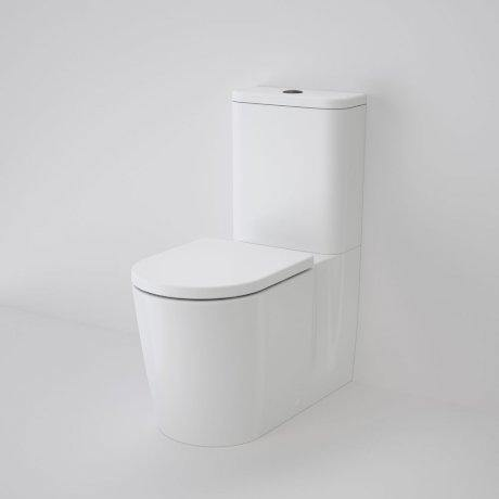 CAROMA-Caroma Elvire Square Cleanflush® Wall Faced Toilet Suite - Brand_Caroma, Colour_Gloss White, Flushing Technology_Rimless Flushing, Pan Trap Type_S & P Trap, Toilet Type_Back To Wall Toilet, Water Inlet Position_Back Inlet-Ideal Bathroom Centre