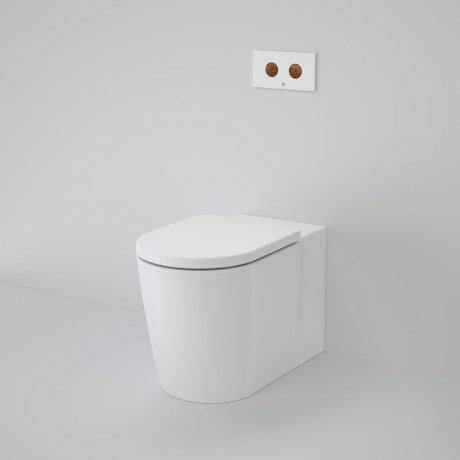 CAROMA-Caroma Elvire Cleanflush Wall Faced Invisi Series II Toilet Suite - Brand_Caroma, Colour_Gloss White, Flushing Technology_Rimless Flushing, Pan Trap Type_S & P Trap, Toilet Type_Concealed Wall Face Toilet-Ideal Bathroom Centre