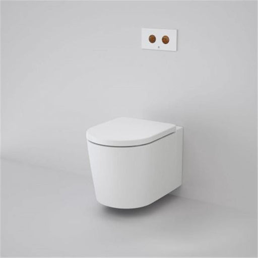 CAROMA-Caroma Elvire Cleanflush Invisi Series II Wall Hung Toilet Suite - Brand_Caroma, Colour_Gloss White, Flushing Technology_Rimless Flushing, Pan Trap Type_P Trap, Toilet Type_ Concealed Wall Hung Toilet-Ideal Bathroom Centre
