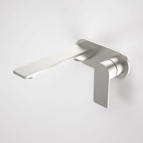 Caroma Urbane II180mm Wall Basin/ Bath Mixer-Round Cover Plate